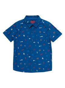 Blue Cars Woven Shirt (9 months - 6 years)