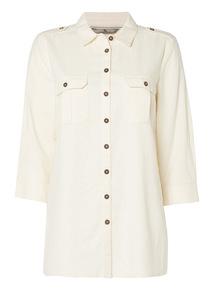 Stone Linen Shirt