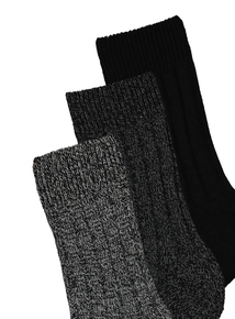 Black Warm Boot Sock 3 Pack