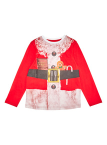 Red Christmas Santa Body Tee (3 - 14 years)