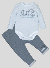 'Guess How Much I Love You' Grey Set (0-24 months)