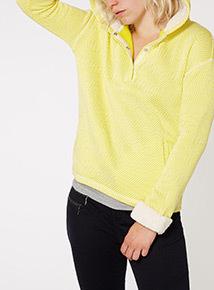 Yellow Stripe Hooded Fleece