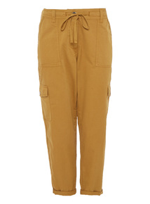 Khaki Rolled-up Utility Trousers