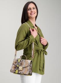 Online Exclusive Multicoloured Snake Print Handheld Bag 0821e951b117
