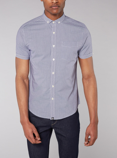 Admiral Navy Gingham Shirt