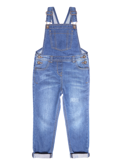 kids girls blue denim dungarees 312 years tu clothing