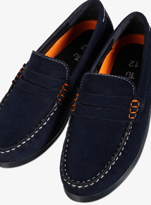 Online Exclusive Navy Microsuede Loafer (6 Infant - 4)