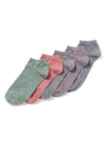 5 Pack Multicoloured Stay Fresh Trainer Socks