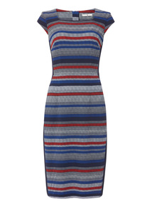 Multicoloured Stripe Illusion Dress