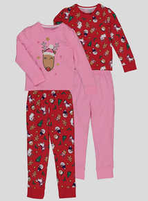 Red Christmas Themed Pyjamas (1.5 - 11 Years)