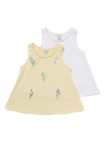 2 Pack Multicoloured Fleur Vests (3-14 years)