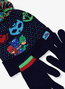 PJ Masks Multicoloured Hat & Glove Set (1-9 Years)