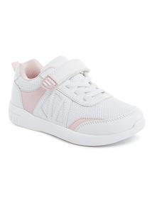 White Glitter Mesh Trainers (6 Infant-4 Child)