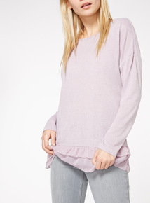 Frill Hem Long Sleeve Top