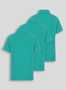Unisex Jade Polo Shirts 3 Pack (3-12 years)