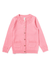Pink Knitted Cardigan (9 months-6 years)