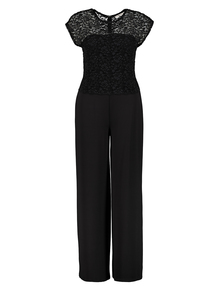 Black Wide Leg Lace Top Jumpsuit