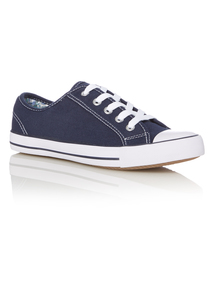 Navy Canvas Trainers