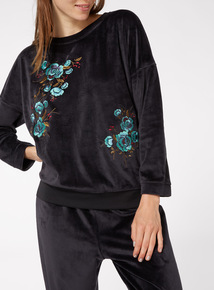 Silky Embroidered Top
