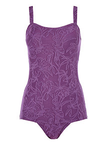 Textured Low Leg Swimsuit