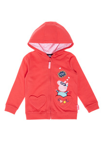 Red Peppa Pig Zip Through Sweat (1-5 years)