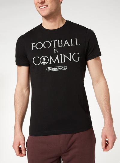 Black Subbuteo Football Tee