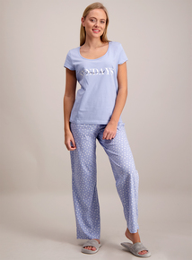 Blue Sunday Slogan Pyjamas