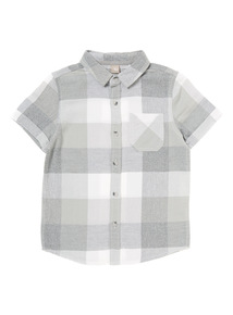 Boys Grey Checked Woven Shirt (3-12 years)