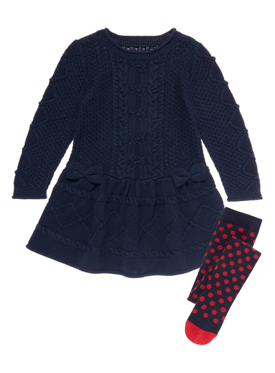 f83720755 Kids Girls Navy Cable Dress (9 months - 5 years) | Tu clothing
