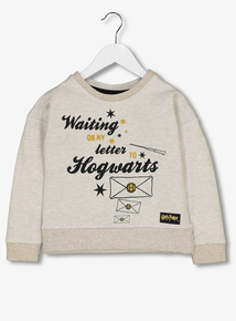 Harry Potter Cream Hogwarts Letter Sweatshirt (5-14 Years)