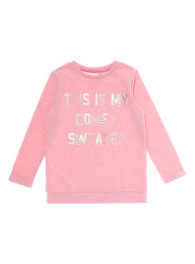 Girls Pink Comfy Sweater Top (3 - 12 years)