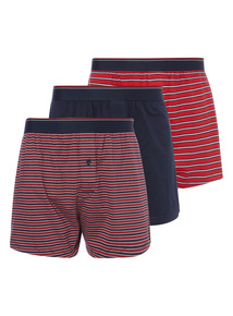 Red Stripe Jersey Boxer 3 Pack