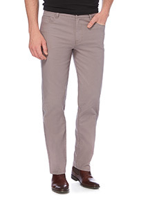 Grey Straight Stretch Trousers