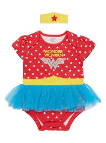 Multicoloured Wonderwoman Bodysuit (0 - 12 months)