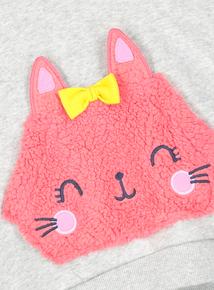 Cat Face Kangaroo Pocket Sweater (9 months -6 years)