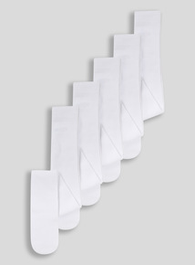 White Supersoft Tights 5 Pack