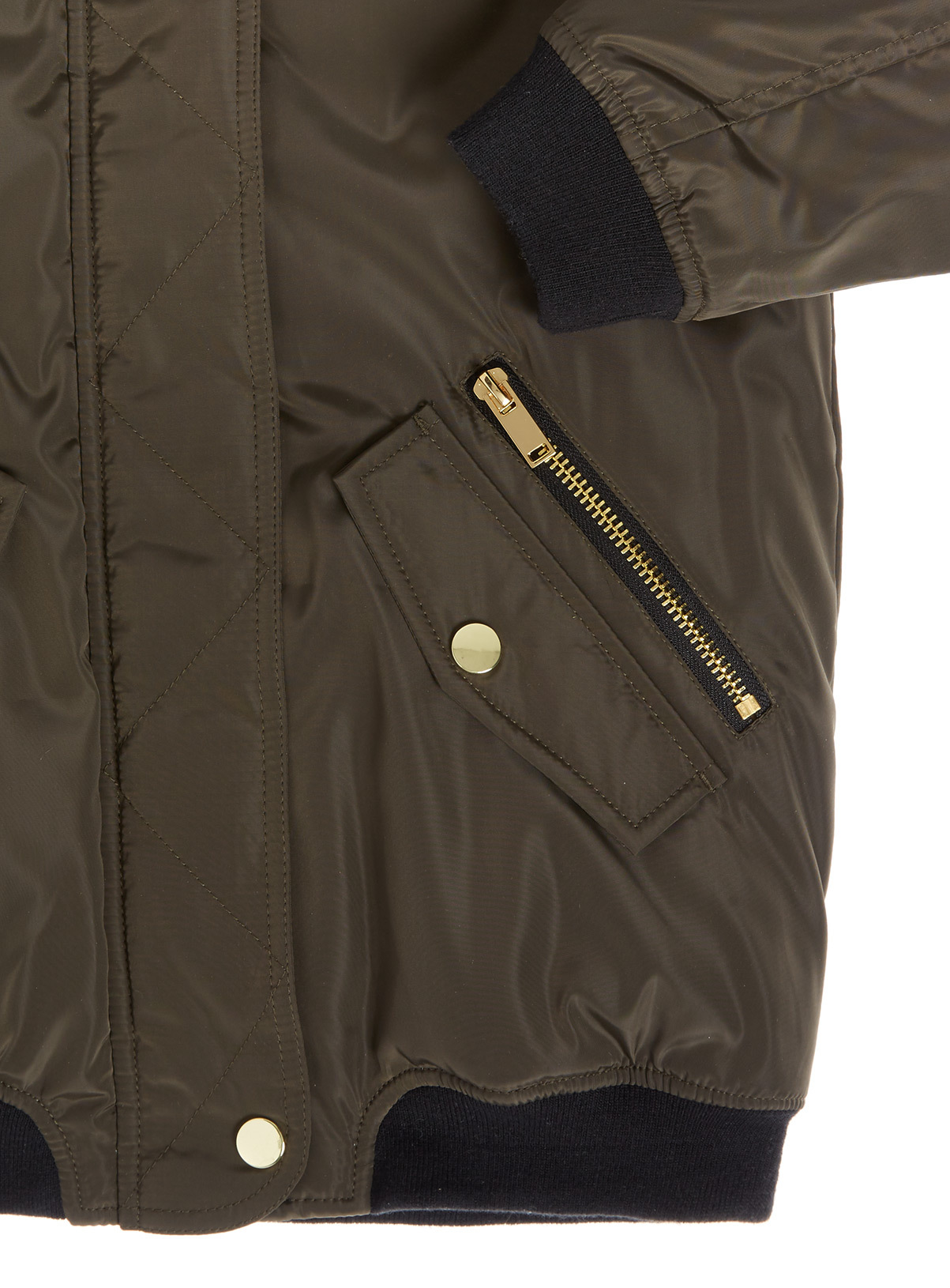 Kids Green Parka Jacket (3-14 years) | Tu clothing