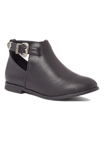 Black Western Cut Out Boots