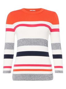 Multicoloured Striped Knit Jumper