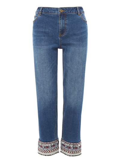 Trim Cuff Straight Jean