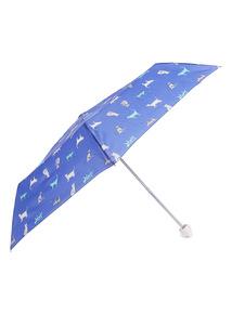 Blue Cat Print and Handle Umbrella