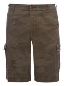 Khaki Camouflage Cargo Shorts