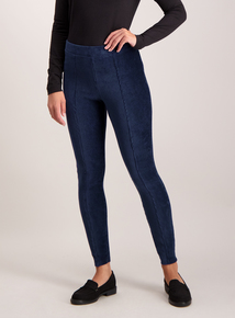Navy Blue Corduroy Leggings