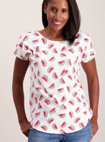 Multicoloured Watermelon Capped Sleeve T-Shirt
