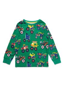 Green Truck Print Top (9 months - 6 years)
