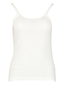 Cream 'Heat Active' Thermal Pointelle Camisole