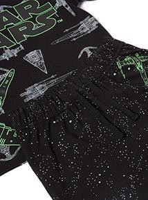 Black Disney Star Wars Glow In The Dark Pyjamas (3-12 years)