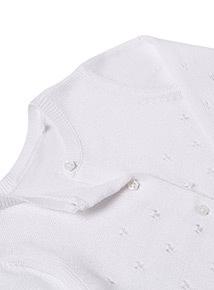 White Cardigan (Newborn - 12 months)