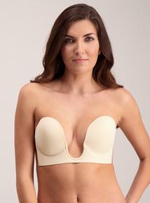 Online Exclusive Nude Stick On Strapless U Plunge Bra