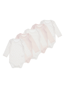 Pink Bodysuits 5 Pack (0 months-3 years)